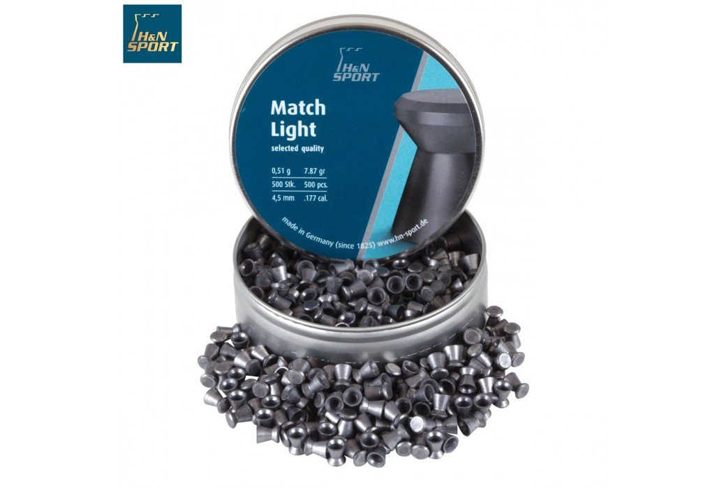 Air gun pellets H & N MATCH LIGHT 4.50mm (.177) 500PCS