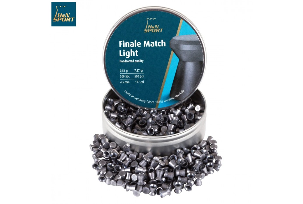 MUNITIONS H & N FINALE MATCH LIGHT 4.50mm (.177) 500PCS