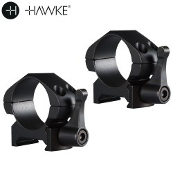 "HAWKE PRECISION STEEL RING MOUNTS 1"" 2PC WEAVER LOW - QUICK RELEASE"