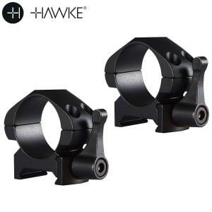 """HAWKE PRECISION MONTAGES ACIER 1"""" 2PC WEAVER BAS - LIBÉRATION RAPIDE"""