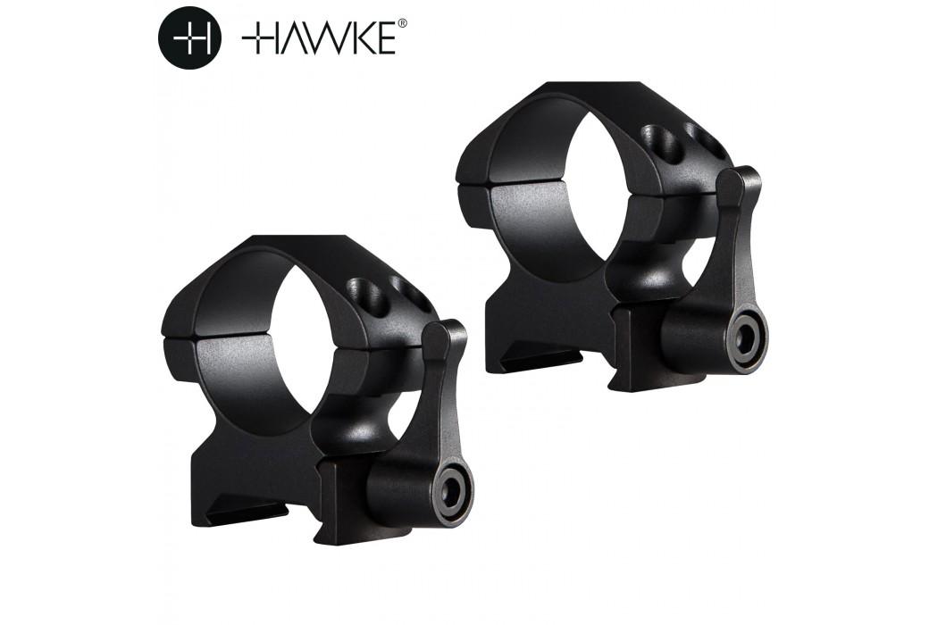 """HAWKE PRECISION MONTAGES ACIER 1"""" 2PC WEAVER MOYEN - LIBÉRATION RAPIDE"""