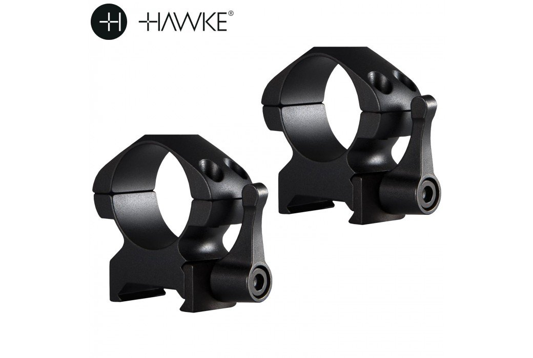 "HAWKE PRECISION STEEL RING MOUNTS 1"" 2PC WEAVER MEDIUM - QUICK RELEASE"