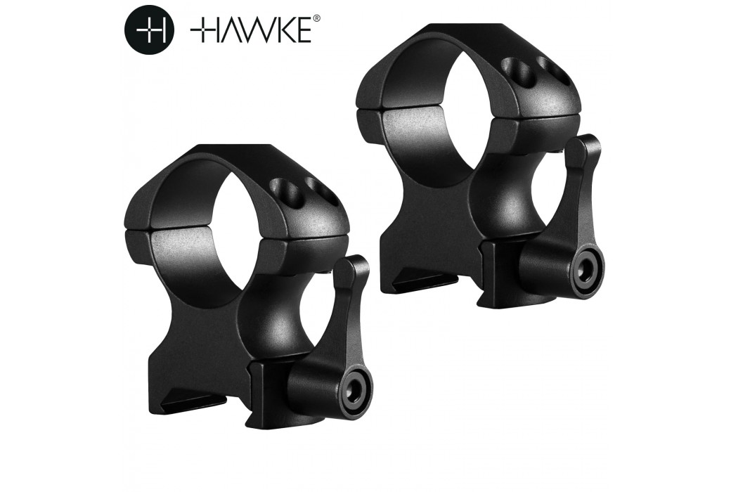 "HAWKE PRECISION STEEL RING MOUNTS 1"" 2PC WEAVER HIGH - QUICK RELEASE"