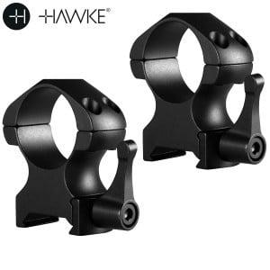 """HAWKE PRECISION MONTAGES ACIER 1"""" 2PC WEAVER HAUTE - LIBÉRATION RAPIDE"""