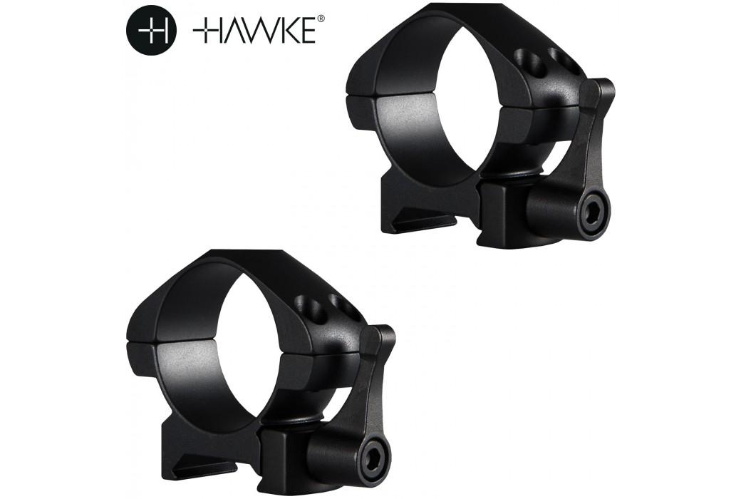HAWKE PRECISION MONTAGES ACIER 30mm 2PC WEAVER BAS - LIBÉRATION RAPIDE