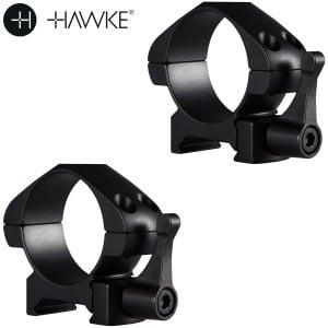 HAWKE PRECISION MONTURAS ACERO 30mm 2PC WEAVER BAJA - LIBERACIÓN RÁPIDA