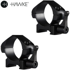 HAWKE PRECISION STEEL RING MOUNTS 30mm 2PC WEAVER LOW - QUICK RELEASE