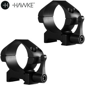 HAWKE PRECISION MONTAGENS AÇO 30mm 2PC WEAVER MEDIA - SAQUE RÁPIDO
