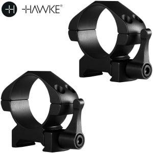 HAWKE PRECISION MONTURAS ACERO 30mm 2PC WEAVER MEDIA - LIBERACIÓN RÁPIDA