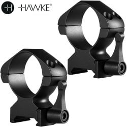 HAWKE PRECISION STEEL RING MOUNTS 30mm 2PC WEAVER HIGH - QUICK RELEASE