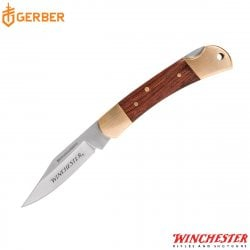 "WINCHESTER NAVAJA 2.5"" BRASS FOLDER"