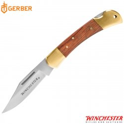 "WINCHESTER NAVAJA 3.25"" BRASS FOLDER"