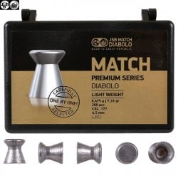 MUNITIONS JSB MATCH PREMIUM LIGHT 200pcs 4.49mm (.177)