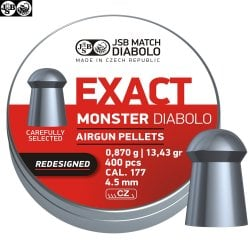 MUNITIONS JSB EXACT MONSTER REDESIGNED ORIGINAL 400pcs 4.52mm (.177)