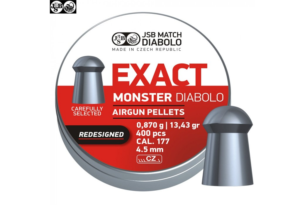 BALINES JSB EXACT MONSTER REDESIGNED ORIGINAL 400pcs 4.52mm (.177)