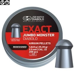 BALINES JSB EXACT MONSTER JUMBO REDESIGNED ORIGINAL 200pcs 5.52mm (.22)
