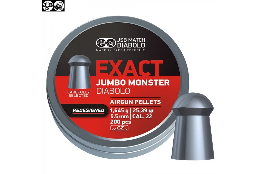 MUNITIONS JSB EXACT MONSTER REDESIGNED ORIGINAL 200pcs 5.52mm (.22)