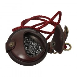 WILKINS LEATHER PELLET POUCH 2.5""