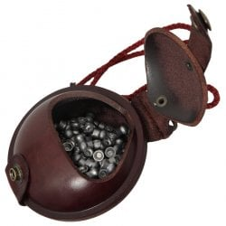 WILKINS LEATHER PELLET POUCH 3.5""