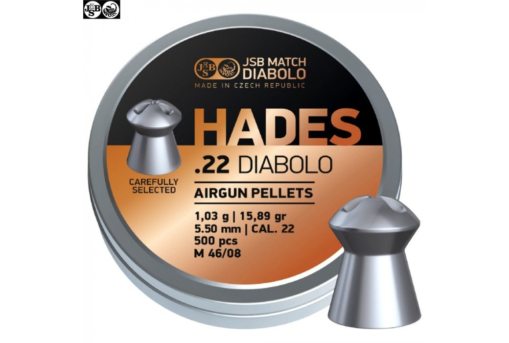 MUNITIONS JSB HADES ORIGINAL 5.50mm (.22) 500pcs