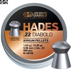 MUNITIONS JSB HADES ORIGINAL 5.50mm (.22) 500pcs
