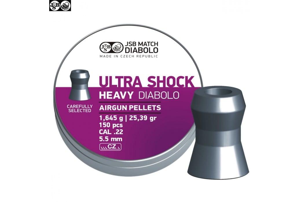 CHUMBO JSB ULTRA SHOCK HEAVY ORIGINAL 150pcs 5.52mm (.22)