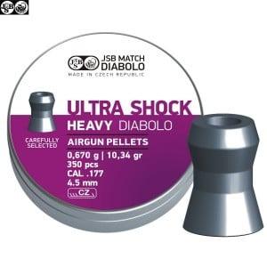 MUNITIONS JSB ULTRA SHOCK HEAVY ORIGINAL 350pcs 4.50mm (.177)
