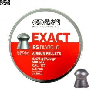 MUNITIONS JSB EXACT RS ORIGINAL 500pcs 4.52mm (.177)