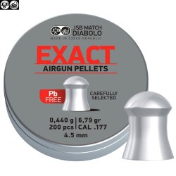 BALINES JSB EXACT LEAD FREE 200pcs 4.52mm (.177)
