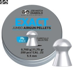BALINES JSB EXACT JUMBO LEAD FREE 200pcs 5.52mm (.22)