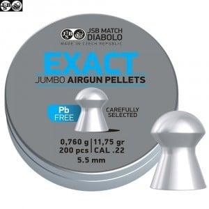 CHUMBO JSB EXACT JUMBO LEAD FREE 200pcs 5.50mm (.22)