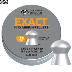BALINES JSB EXACT KING LEAD FREE 150pcs 6.32mm (.25)