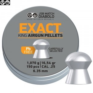 Air gun pellets JSB EXACT KING LEAD FREE 150pcs 6.32mm (.25)