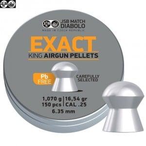 BALINES JSB EXACT KING LEAD FREE 150pcs 6.32mm (.25)