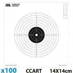 CIBLES CARTON COMP. CARABINE 10m 100pcs 14X14CM