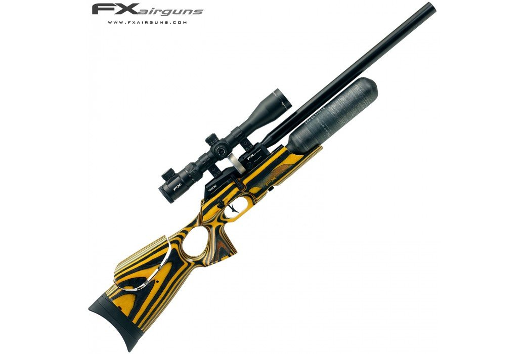 PCP AIR RIFLE FX CROWN YELLOW LAMINATE