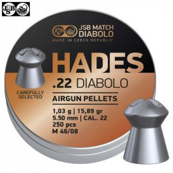 MUNITIONS JSB HADES ORIGINAL 5.50mm (.22) 250pcs