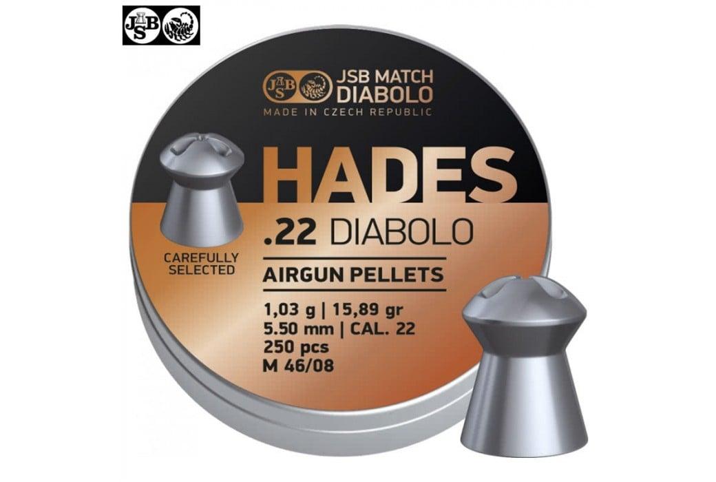 MUNITIONS JSB HADES ORIGINAL 5.50mm (.22) 250pcs