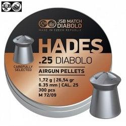 MUNITIONS JSB HADES ORIGINAL 6.35mm (.25) 300pcs