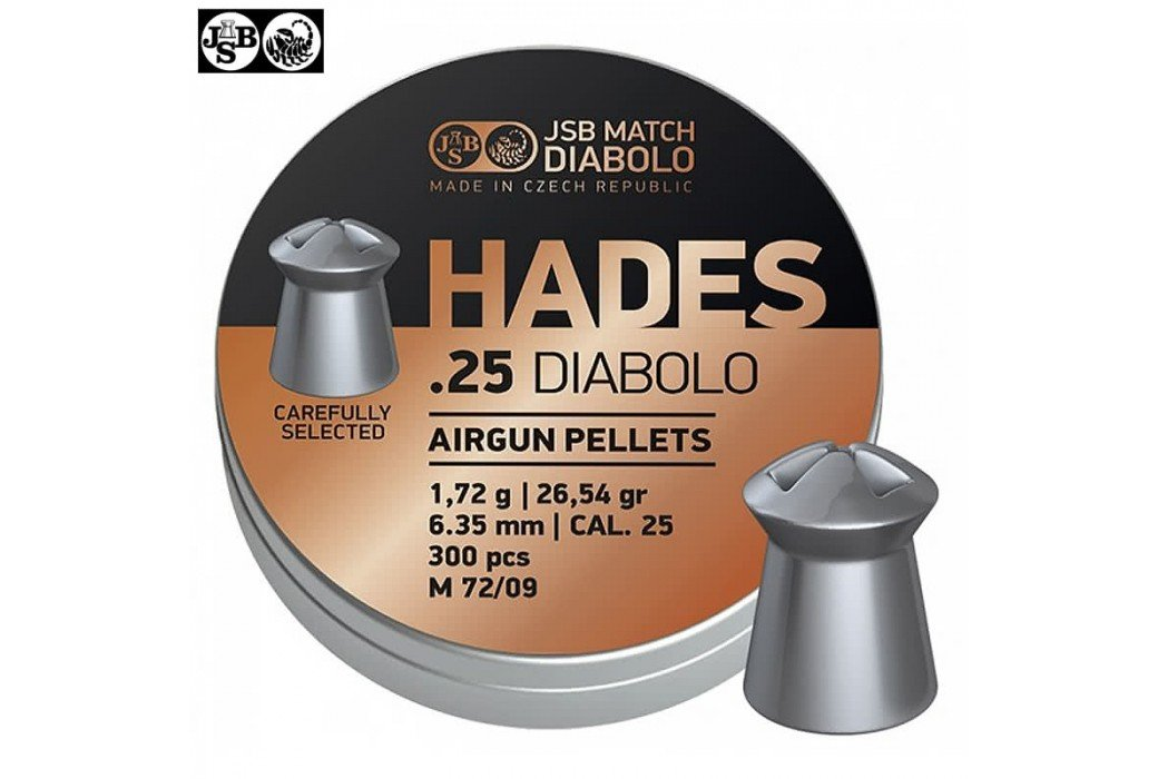 BALINES JSB HADES ORIGINAL 6.35mm (.25) 300pcs