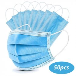 PACK 50 SURGICAL MASKS TYPE II HIGH FILTRATION 3 LAYERS