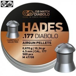 MUNITIONS JSB HADES ORIGINAL 4.50mm (.177) 500pcs