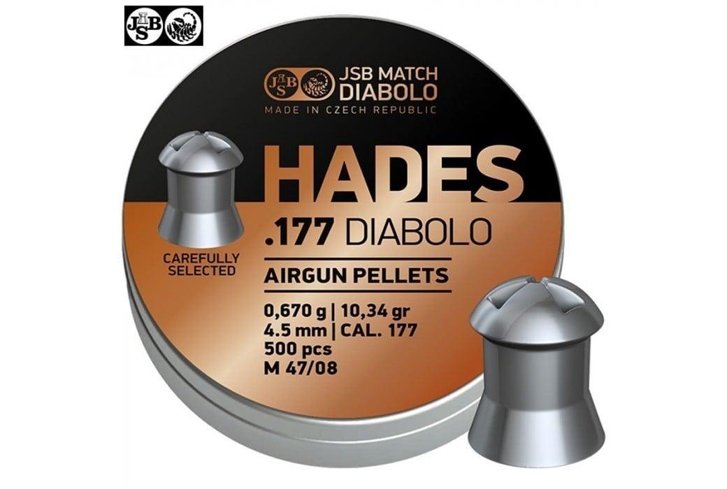MUNITIONS JSB HADES ORIGINAL 4.50mm (.177) 500pcs