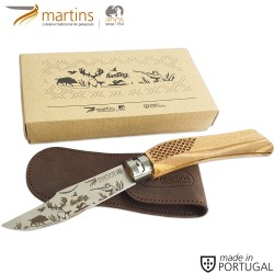 MARTINS POCKET KNIFE ECO L HUNTING 9.5CM (LEATHER POUCH)
