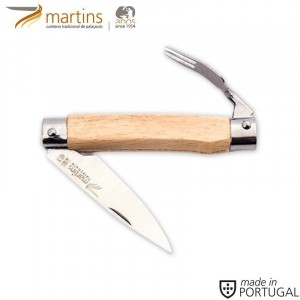 MARTINS POCKET KNIFE W/ FORK BEECH 6.6CM