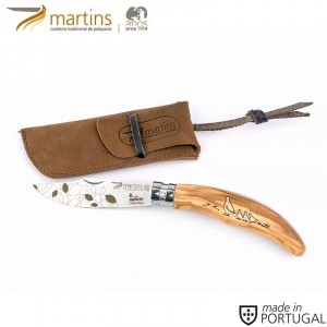 MARTINS POCKET KNIFE ELLEGANCE M NATURE PARTRIDGE 8CM (LEATHER POUCH)