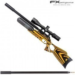 PCP AIR RIFLE FX CROWN CONTINUUM YELLOW LAMINATE