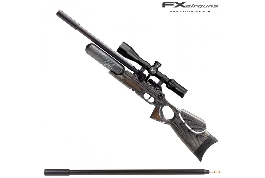 PCP AIR RIFLE FX CROWN CONTINUUM BLACK-PEPPER LAMINATE