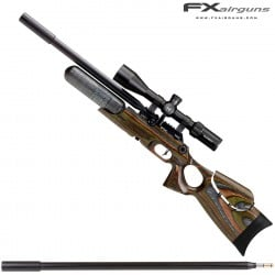 PCP AIR RIFLE FX CROWN CONTINUUM GREEN LAMINATE
