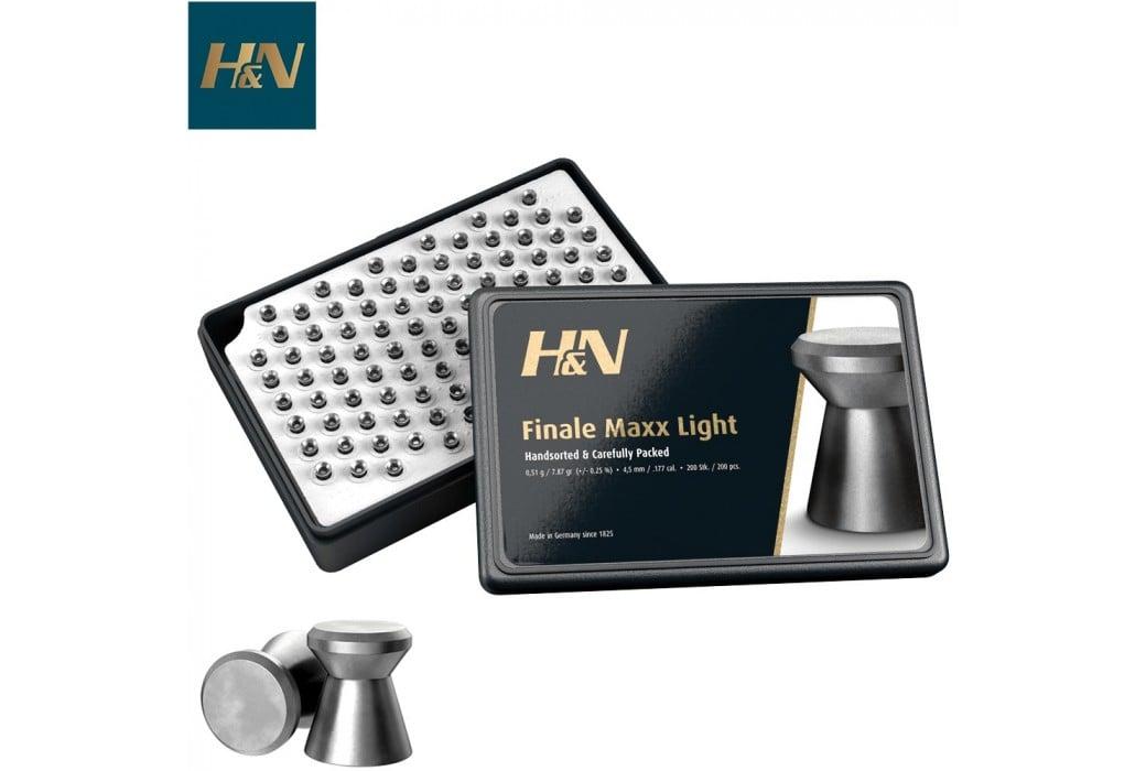 MUNITIONS H & N FINALE MATCH LIGHT 4.50mm (.177) 500PCS